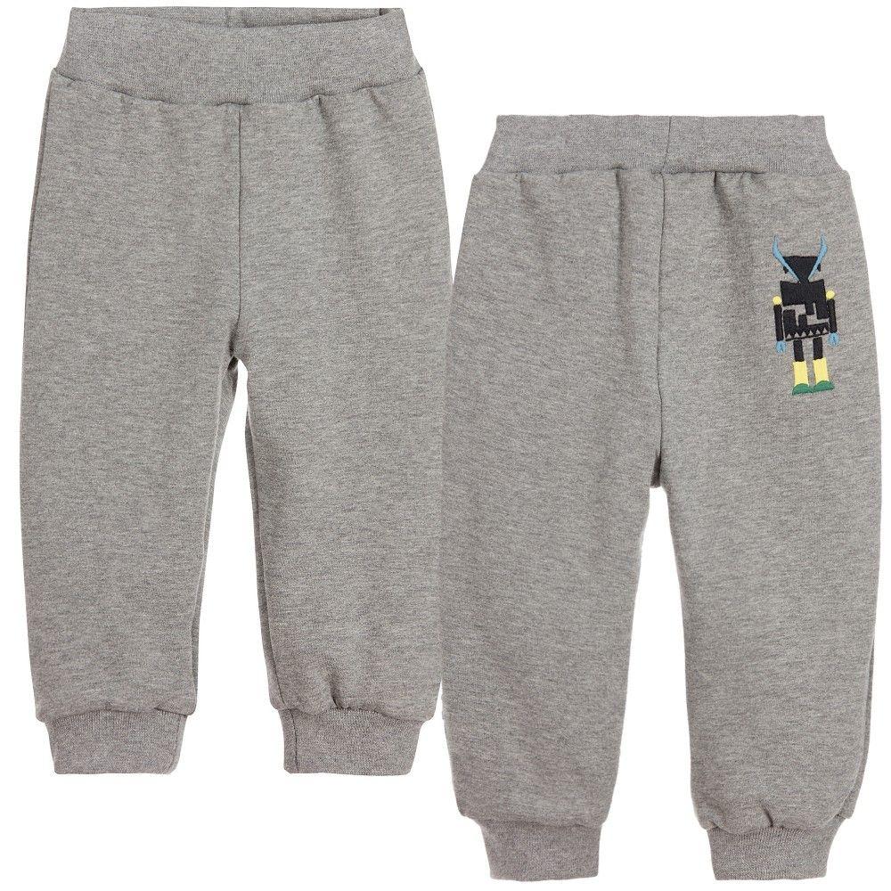 Fendi - Baby Boys Grey Tracksuit Trousers |