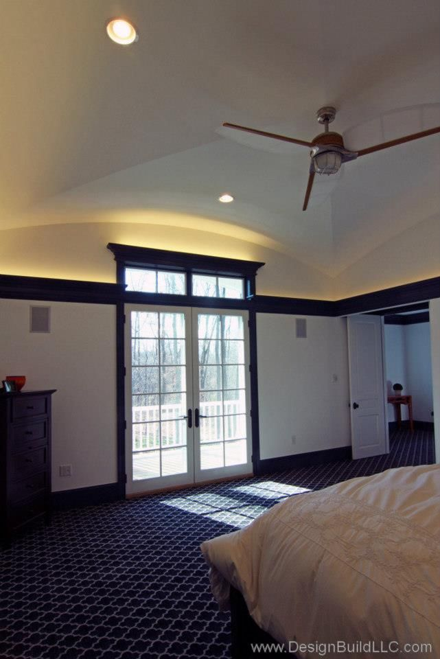 Master Bedroom with Balcony  Created By Design Build LLC