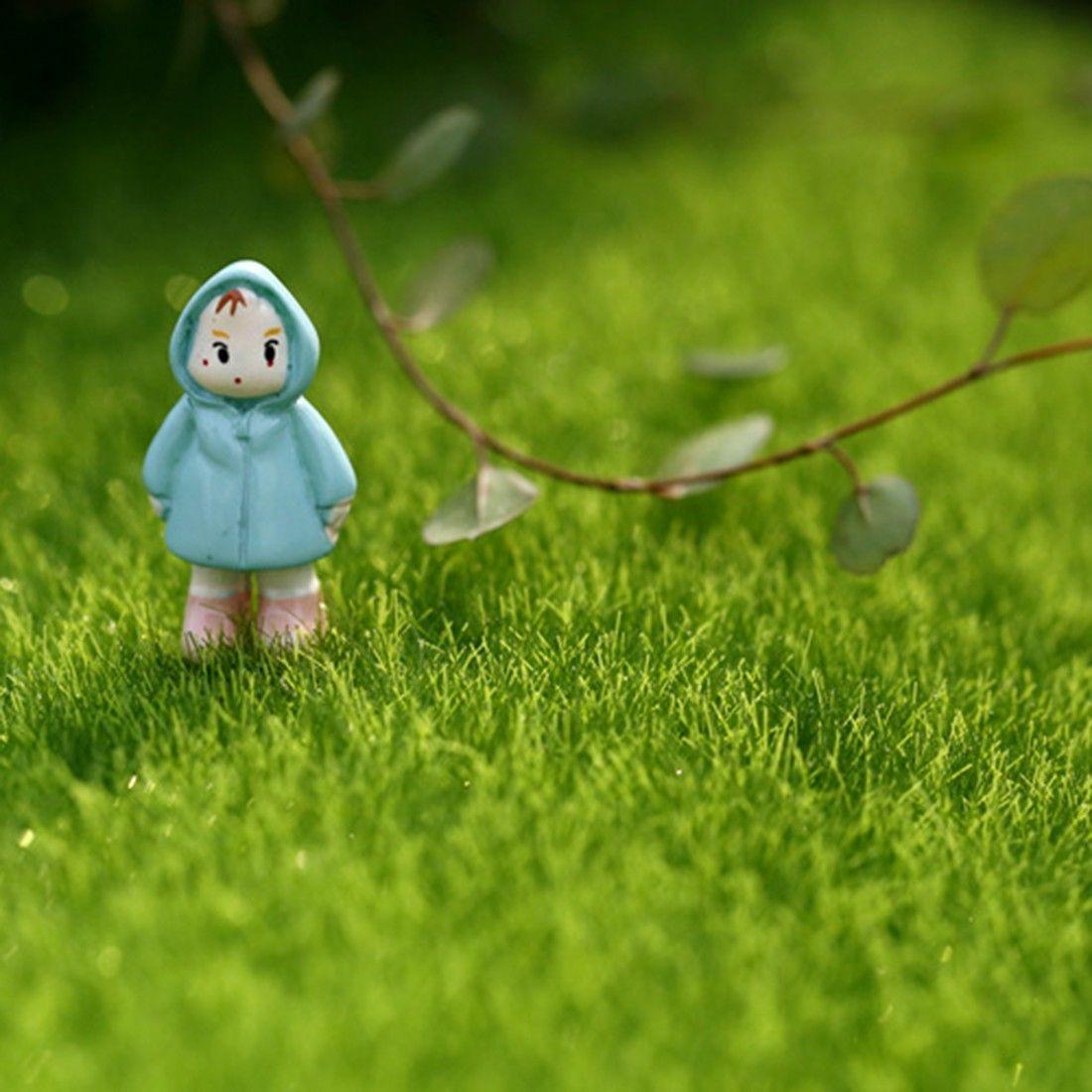 Fake Moss Miniature Garden Ornament DIY Mushroom Craft Pot Fairy ...