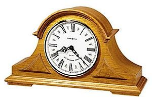 BEDFORD MAHOGANY CHERRY OAK FINISH DESK SHELF MANTEL MANTLE CLOCK with 4 CHIMES