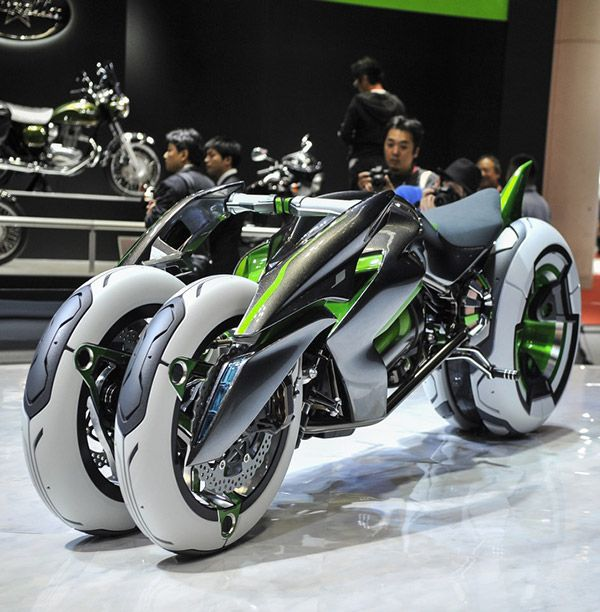 Kawasaki J Is A Real-Life TRON Light Cycle, Features Shape