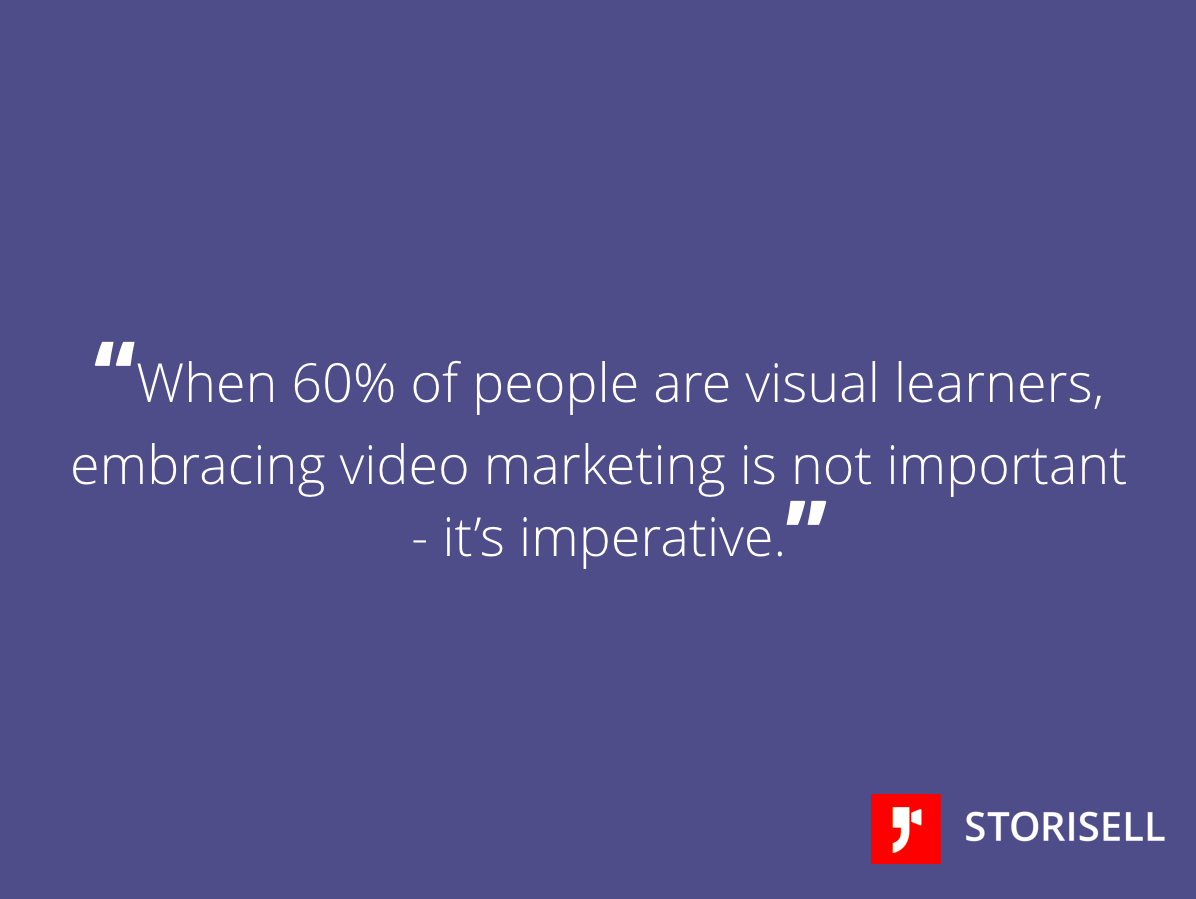 """Animerad Reklamfilm  """"When 60% of people are visual learners, embracing video marketing is not important - it's imperative."""" Learn more at http://Storisell.com"""