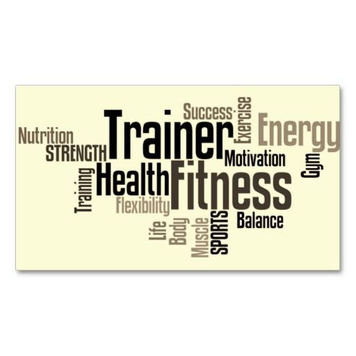 Personal trainer business card fitness business cards pinterest personal trainer business card fbccfo Choice Image