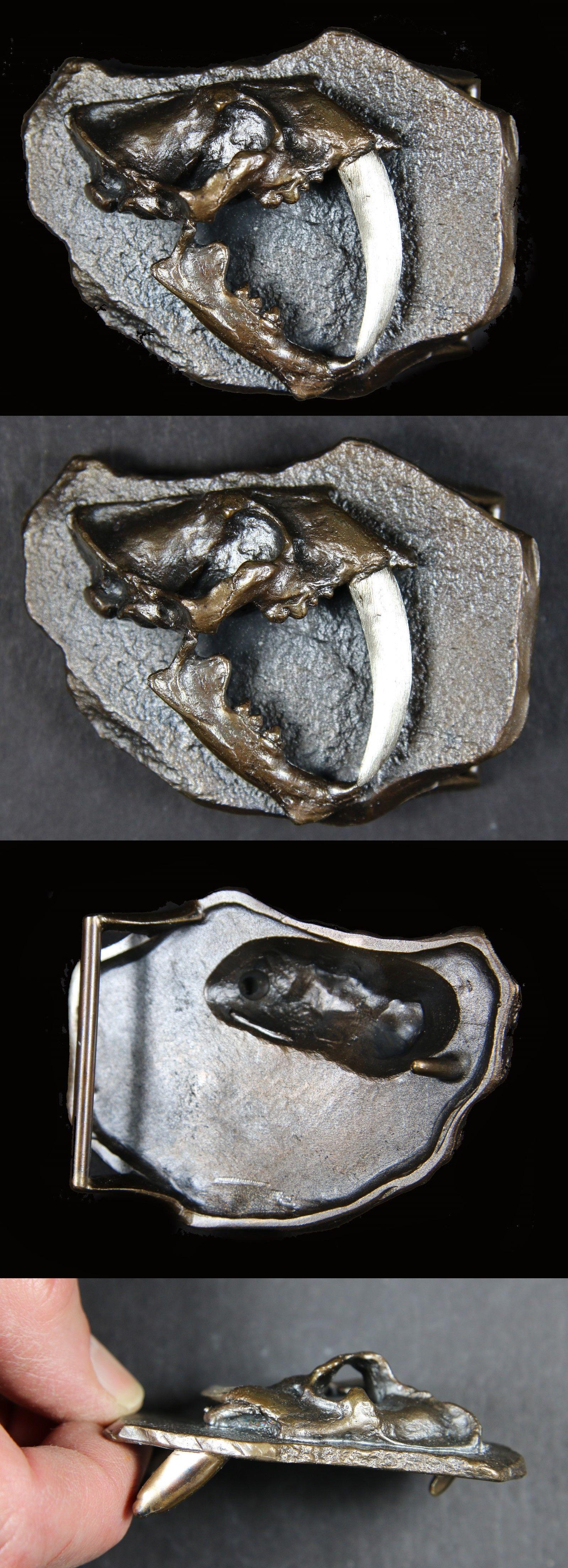Belt Buckles Cast Bronze Belt Buckle – Saber Cat BUY IT