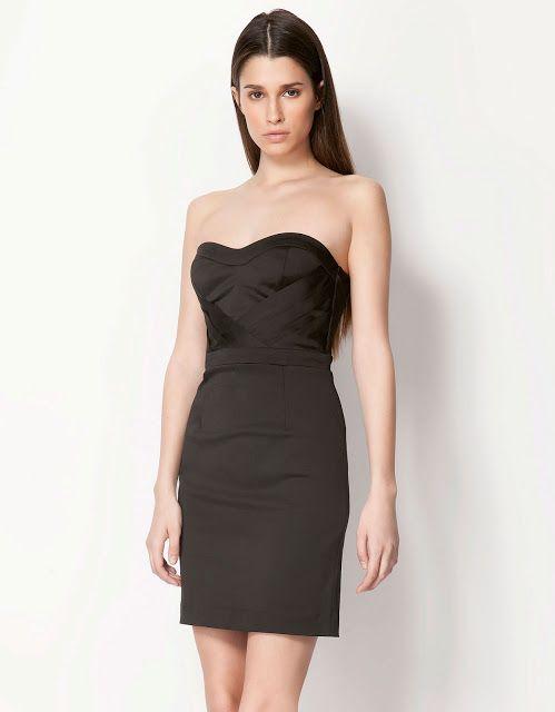 Siyah Kisa Gece Elbisesi Straplez Elbise Bershka Elbise Koleksiyon Desen Desenlielbise Etnikelbise Ilgincelb Moda Stilleri The Dress Siyah Kisa Elbise