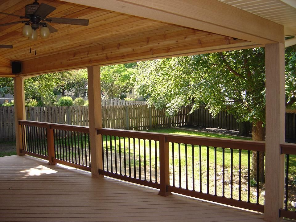 Google Image Result For Http Central Iowa Archadeck Com Images Gallery 12 Compositedecks 039 Jpg Porch Design House With Porch Backyard Porch