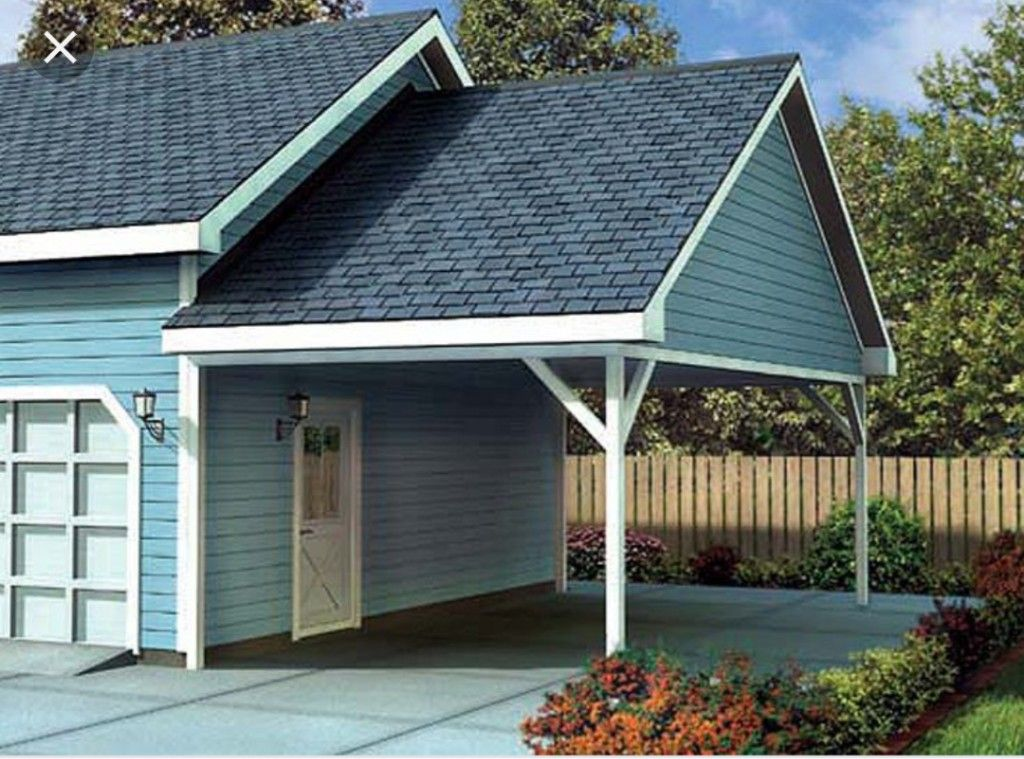 Enclose the first bay and extend another bay Carport