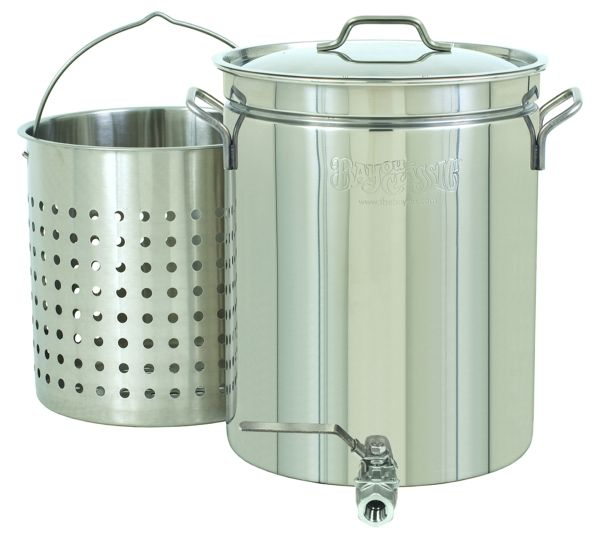 Bayou Classic 10 Gallon Stainless Stockpot W Spigot Basket 1140 Bayou Classic Stainless Steel Kettle Stock Pots