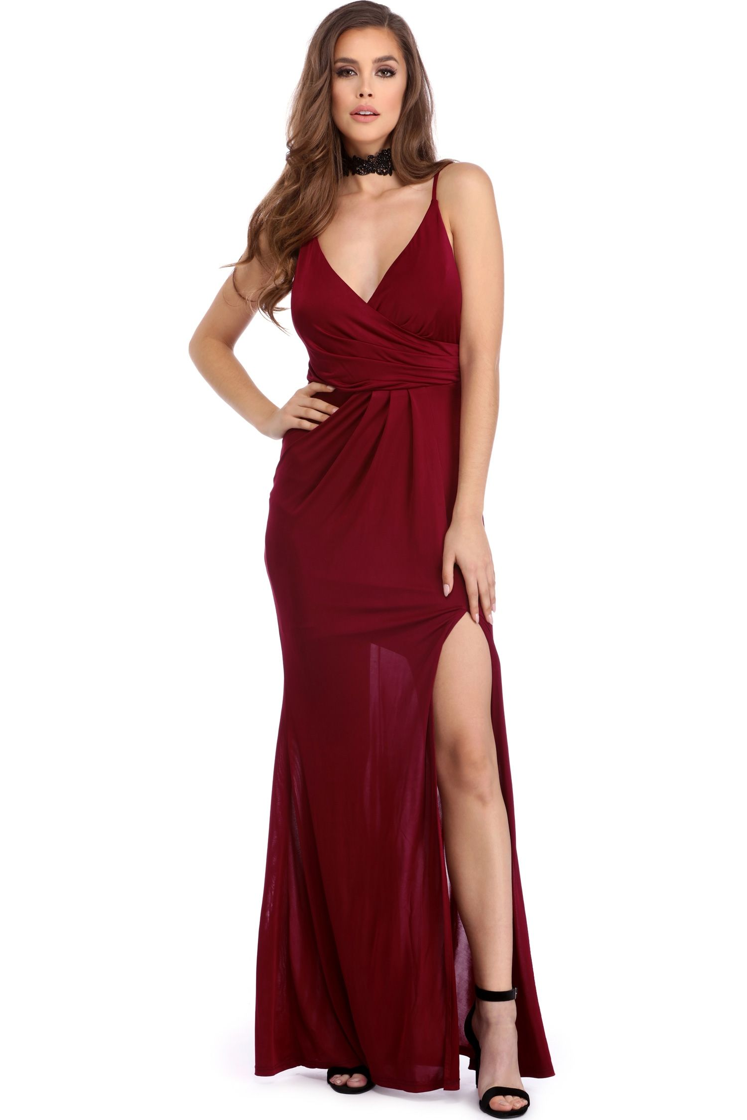 Eileen Burgundy Formal Wrap Dress | Formal', Wrap dresses and Wraps