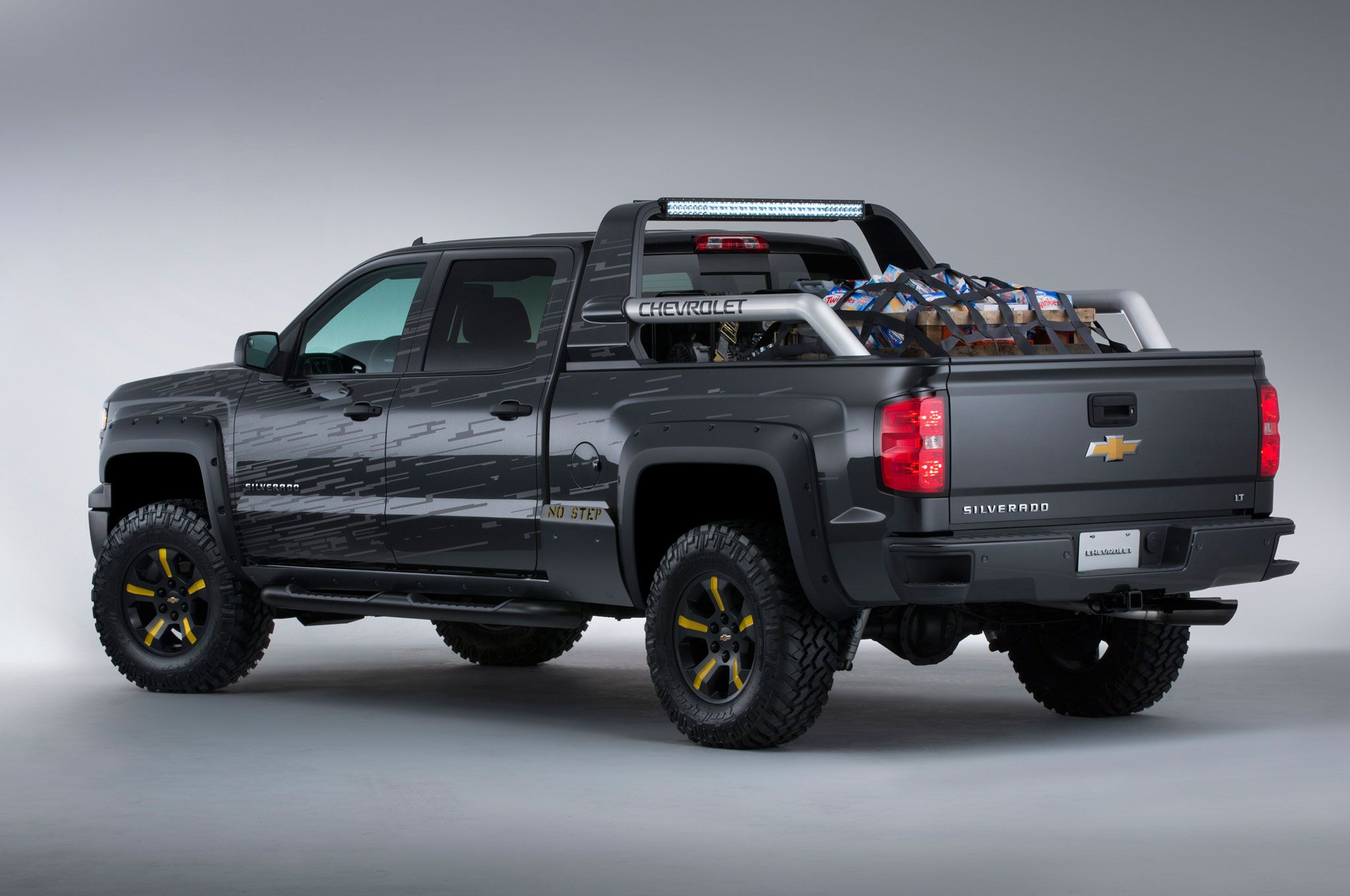 This 2014 chevy silverado black ops concept sema truck is the ultimate survival machine taking disaster preparedness to the next level