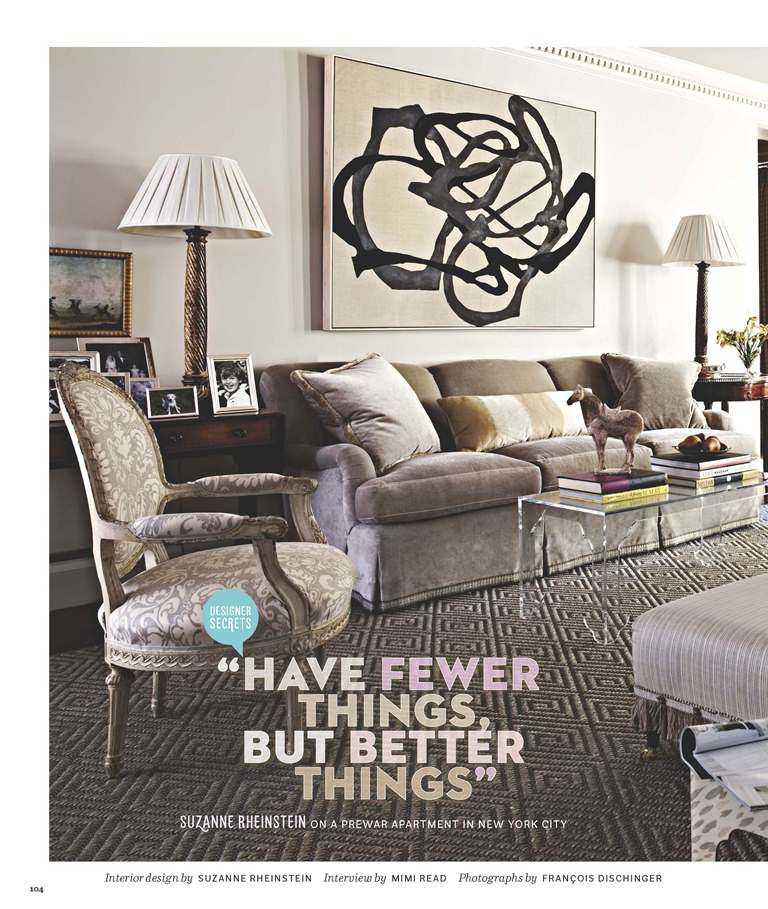 New York Residence featured in House Beautiful, May 2012