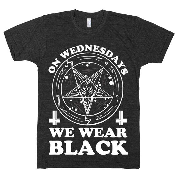 On Wednesdays We Wear Black Mean Girls Parody Quote by ProxyPrints, $24.00 #satan #meangirlsquotes #gothclothes