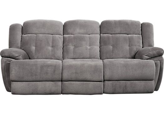 Normandy Gray Power Reclining Sofa 795 00 92w X 41d X 43h Find Power Reclining Sofa Reclining Sofa Grey Reclining Sofa