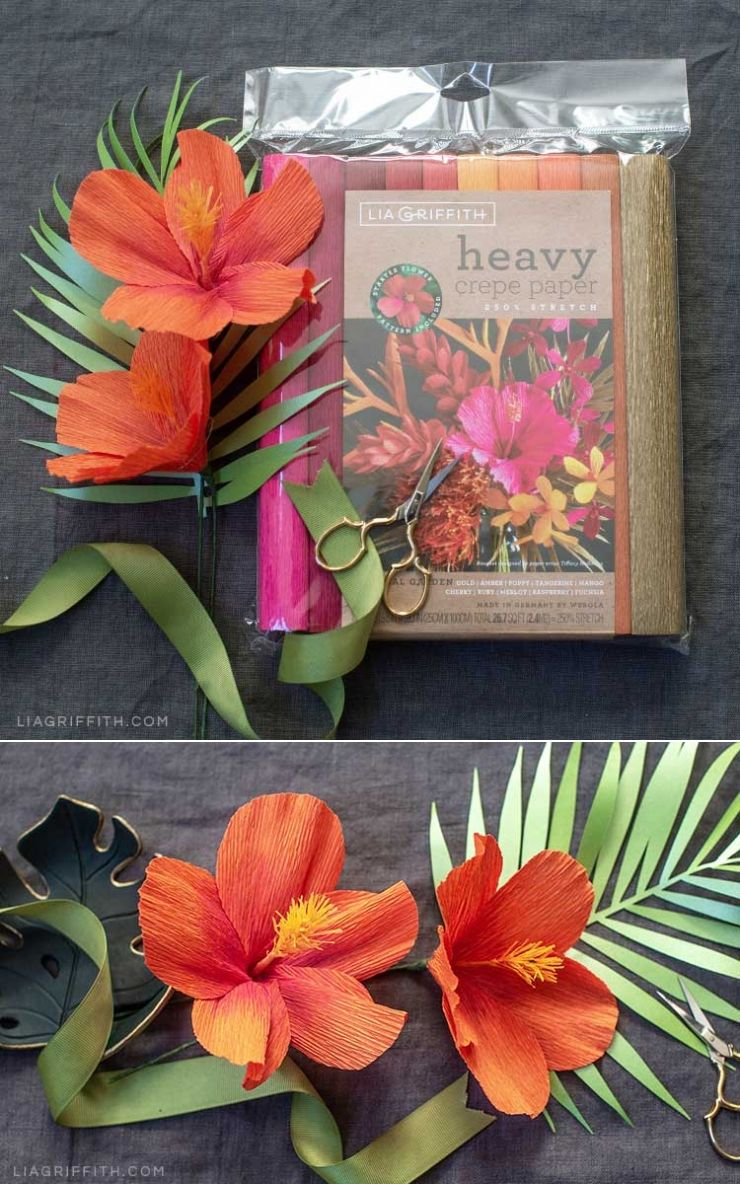 Video Tutorial Heavy Crepe Paper Hibiscus Starter Pattern Crepe