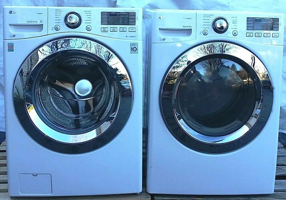 Ebay Sponsored Pickup Lg Set Washer Electric Dryer Washing