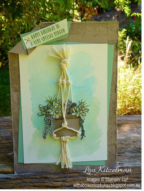 Oh So Succulent by Stampin' Up! available from January 4th 2017 With a bow on top