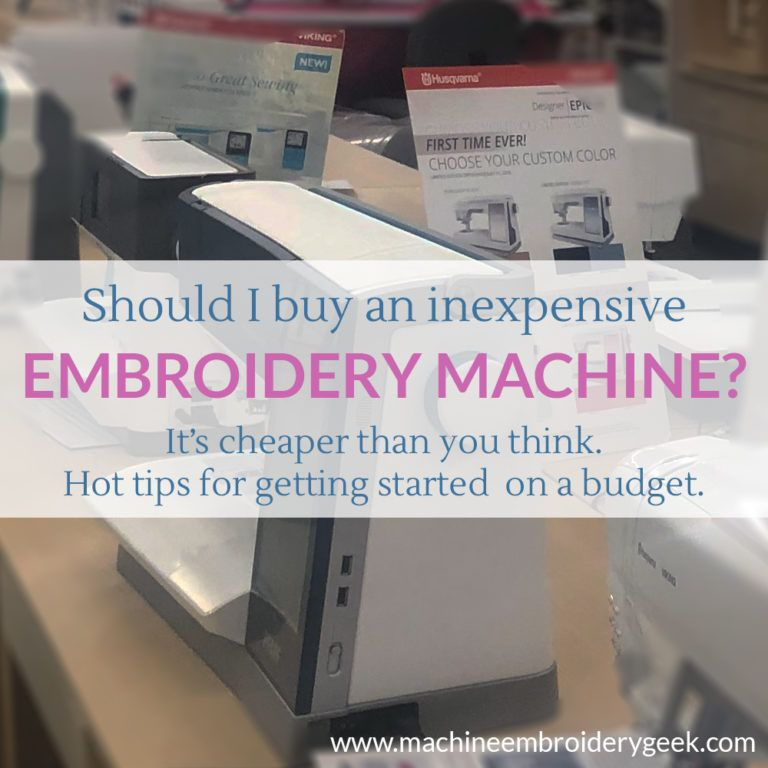 What Embroidery Machine Should I Buy