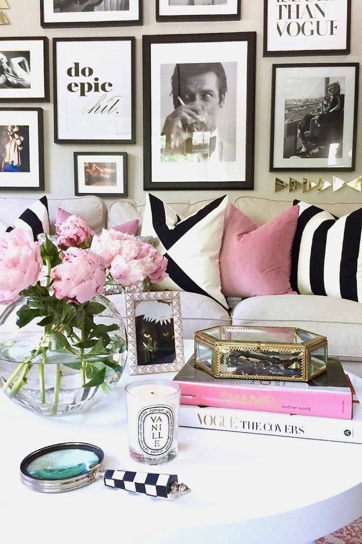 Pretty In Pink An Apartment Refresh White Home Decor Decor Pink Living Room