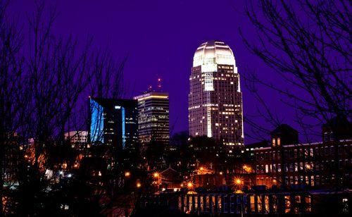 Skyline Of Winston Salem North Carolina Winston Salem Winston Salem Nc Favorite Places