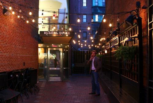 Outside Russell House Tavern In Harvard Square. DiscoverHarvardSquare.com.