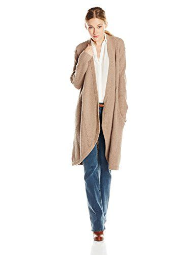Sam Edelman Women's Duster Cardigan Sweater, Tan Heather, Large ...