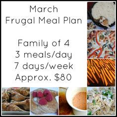 march frugal meal plan frugal meals meals and dinner ideas