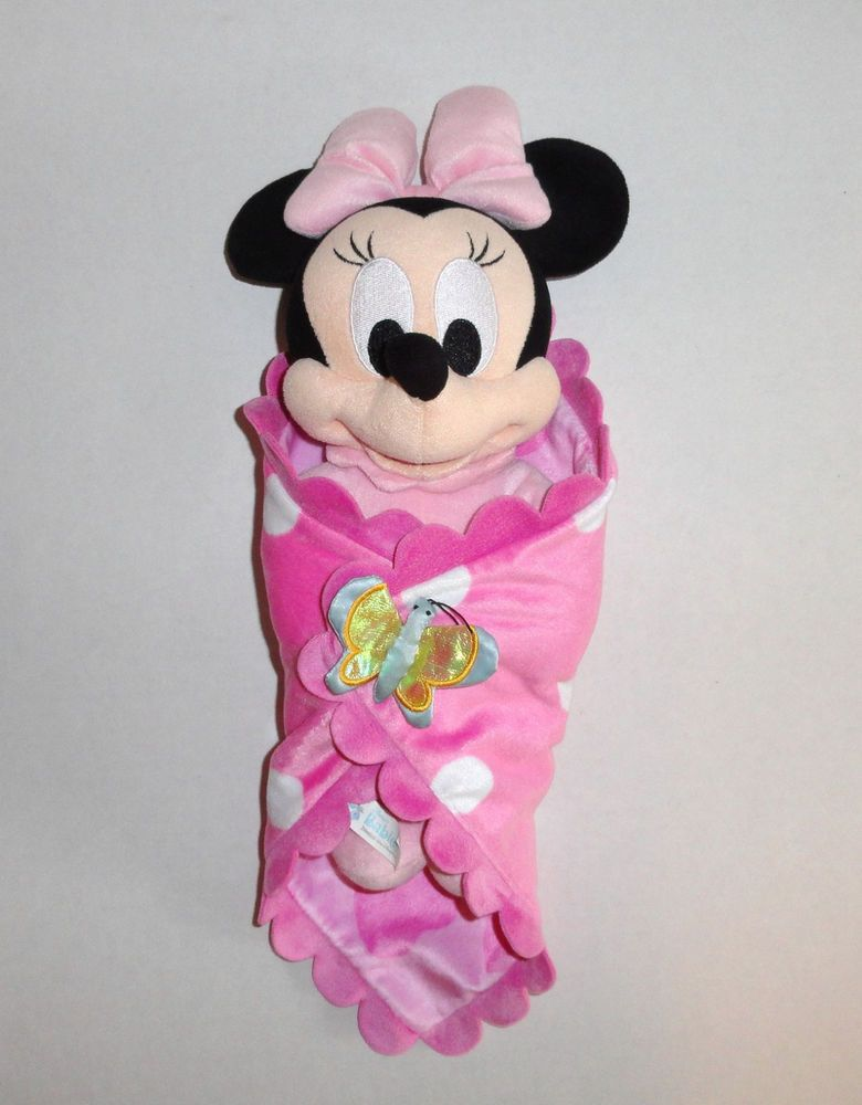 Disney Babies Baby Minnie Mouse Plush Doll With Security