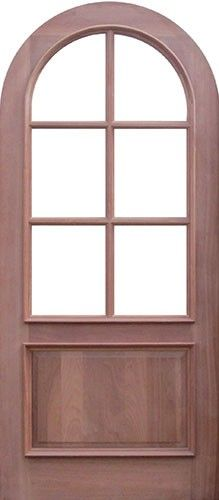 Discount 8 0 Tall Premium Mahogany 6 Lite Round Top Door Wood Door Slab P23 Cottage Front Doors Entry Doors With Glass Wood Front Doors