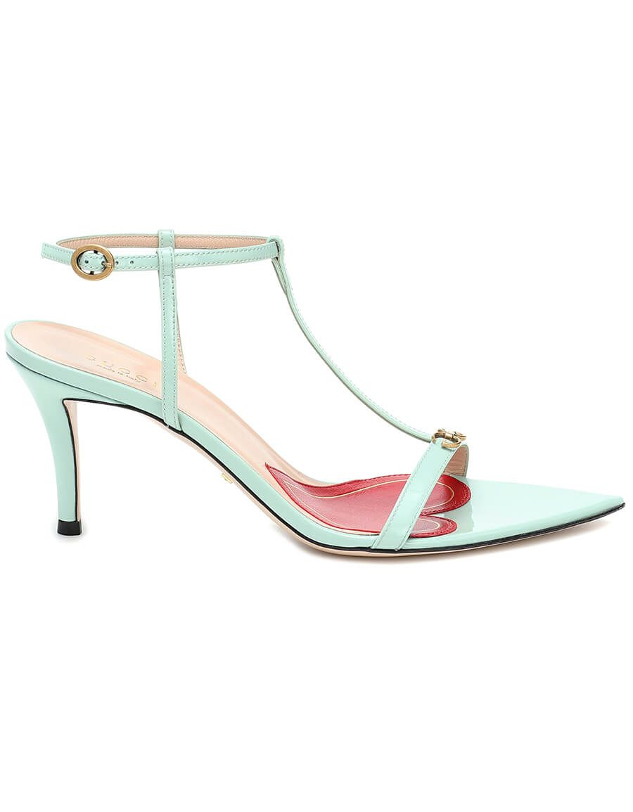 GUCCI Pointed 75 leather sandals