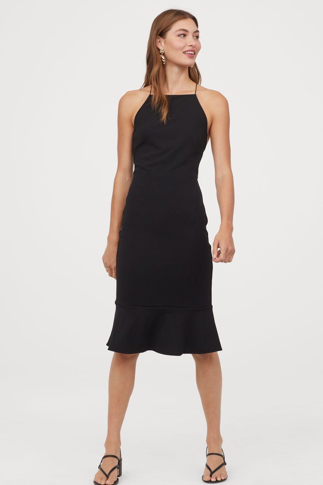 Kleid mit Rückenausschnitt - Schwarz - Ladies  H&M DE  Kleid