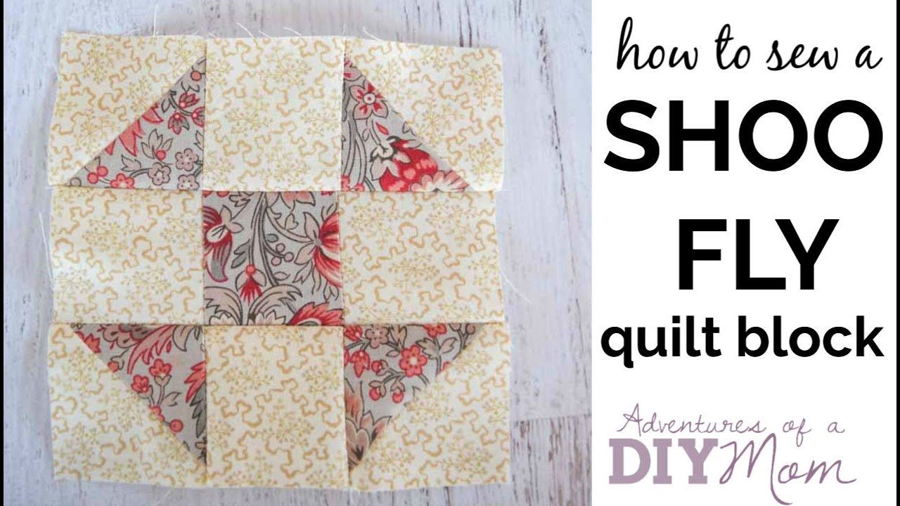 Shoo Fly Quilt Block Easy Pattern For Beginners In 2020 Quilt Blocks Easy Quilts Quilt Blocks