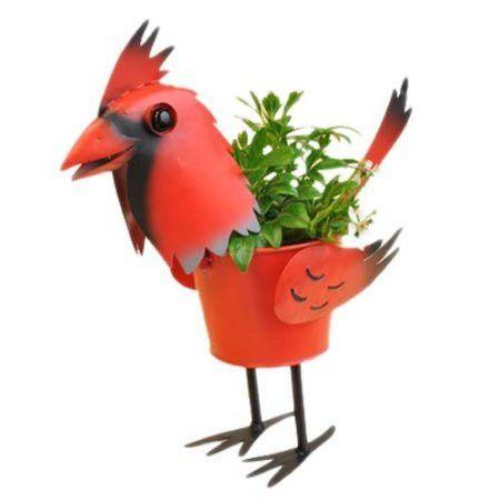 """Mini Cardinal Bird Planter 4"""""""