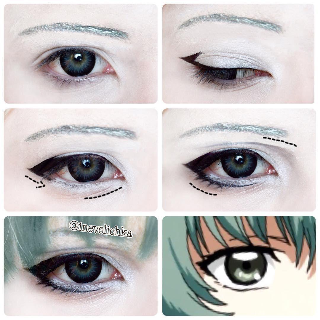 Comic con society anime eye makeup cosplay makeup