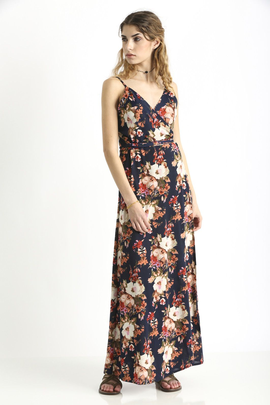 4c930381e25 Abbeline Floral Cami Wrap Maxi Dress | South Moon Under ...