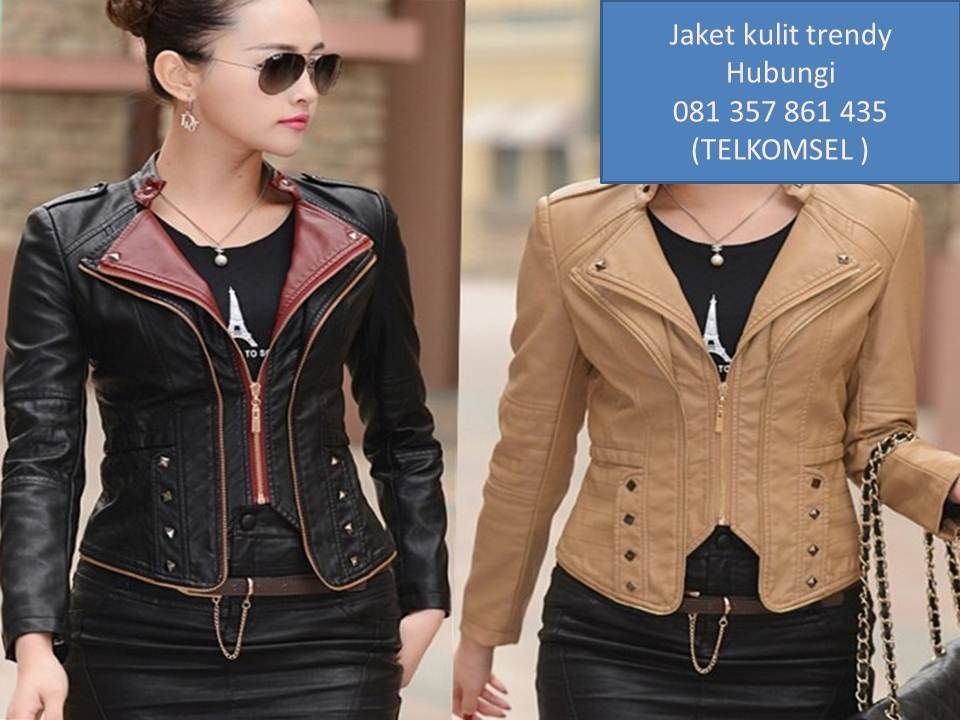 Model jaket kulit wanita modern 172830c724