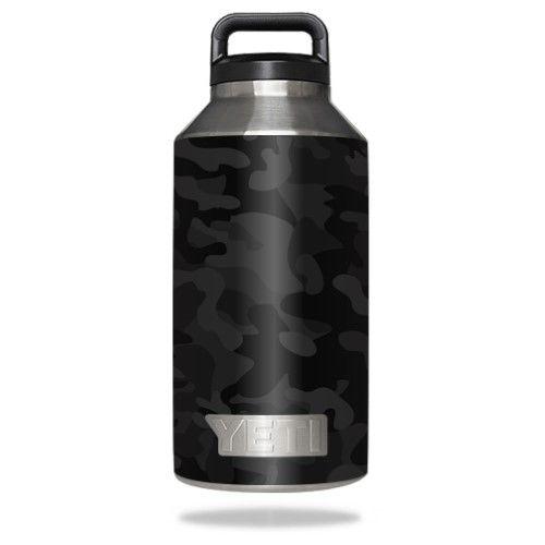 Skin Decal Wrap for Yeti Rambler Bottle 64 oz cover sticker Black