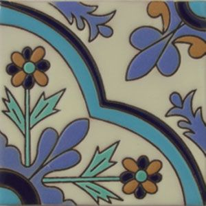 Mexican Tile Handcrafted High Relief rvl 169 t