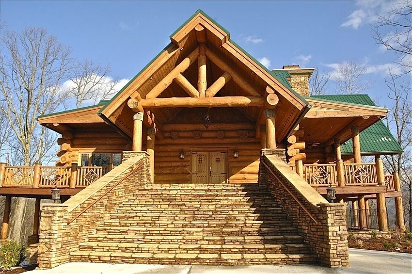 Cobbly Nob Vacation Rental   VRBO 359498   8 BR Gatlinburg Chalet In TN,  Wilderness