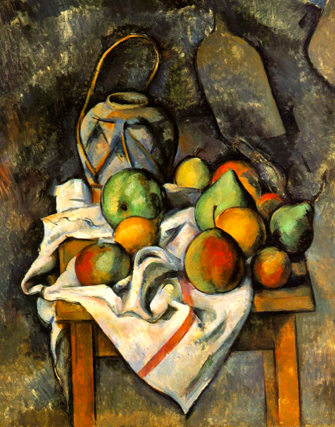Paul Cezanne. Ginger Jar and Fruit (1895).