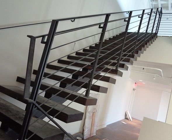 Best Steel And Wood Central Spine Stair And Railings 2 Iden 640 x 480