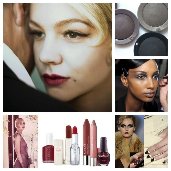 Gatsby Makeup Collage