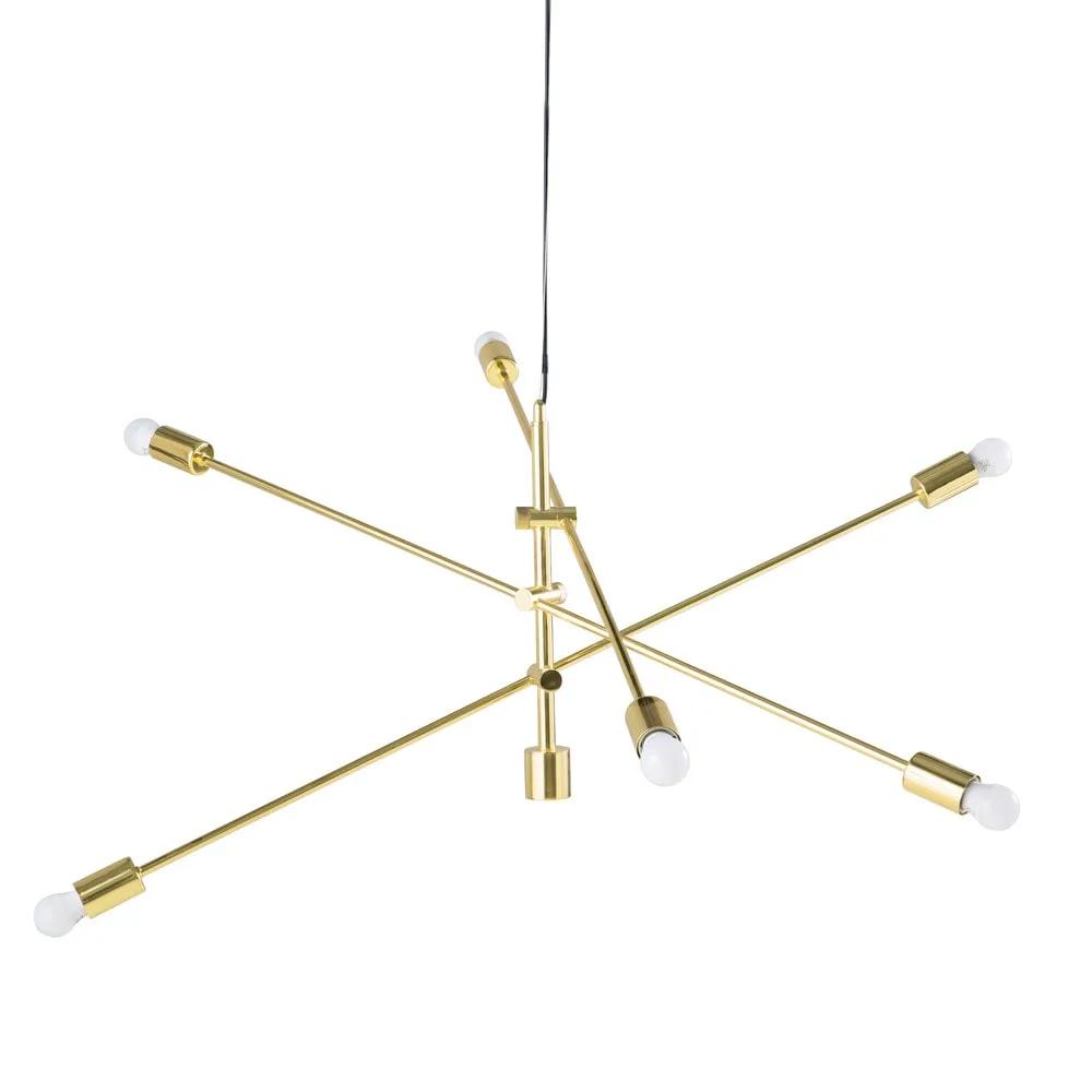 de con metal en dorado 3 Lámpara techo orientables de brazos 7bfgy6