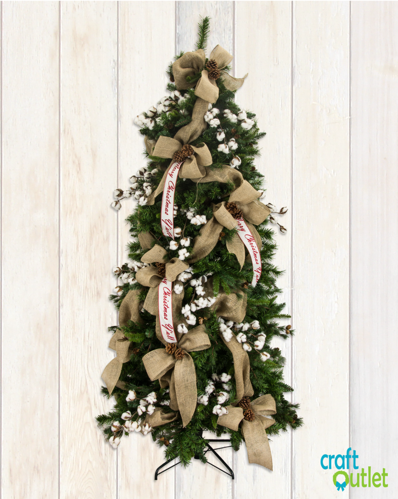 Christmas tree decorating with burlap and deco mesh craft outlet - Christmas Tree Decorating With Burlap And Deco Mesh Craft Outlet Inspiration