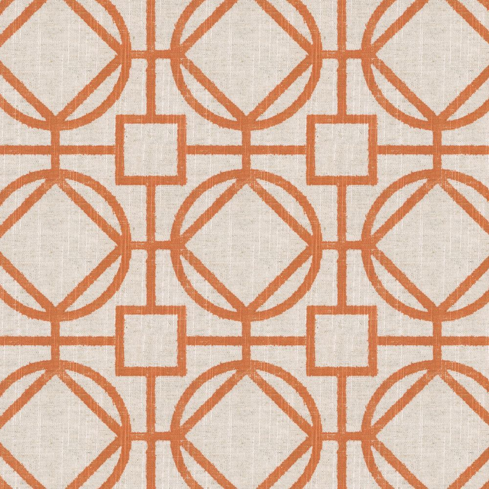 Modern Orange Trellis Fabric | Gated Entry Harvest | Loom Decor ...
