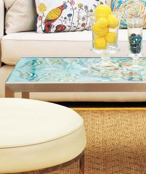If You Have A Coffee Table With Removable Gl Top Wrap