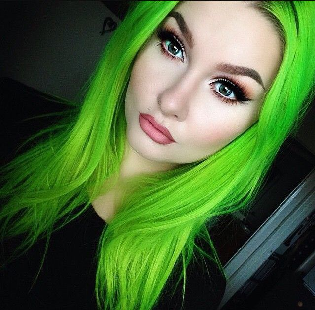 Full head using Neon Green. Stunning!