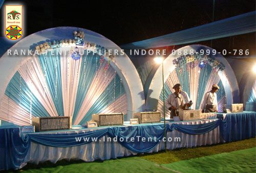 This is the best theme when you are looking for a rich high class party the reception stage gate  chairs and complete tent arrangement is looking shiny ... & Ranka Tent Suppliers Address : No. 20 Metro Complex Nand Lal ...
