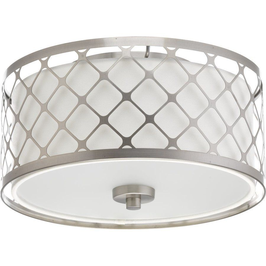 Progress Lighting 11 Inch Mingle Led 1 Light Close To Ceiling Light Brushed Nickel And Fabric Shade P2330 0930k9 In 2020 Progress Lighting Led Flush Mount Flush Mount Lighting