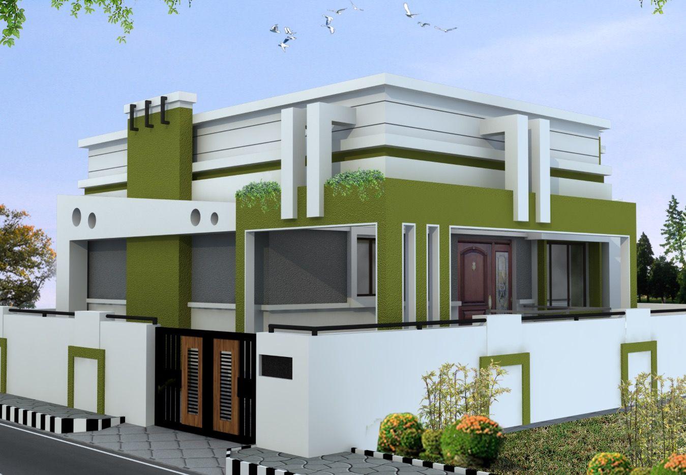 house front face design portico