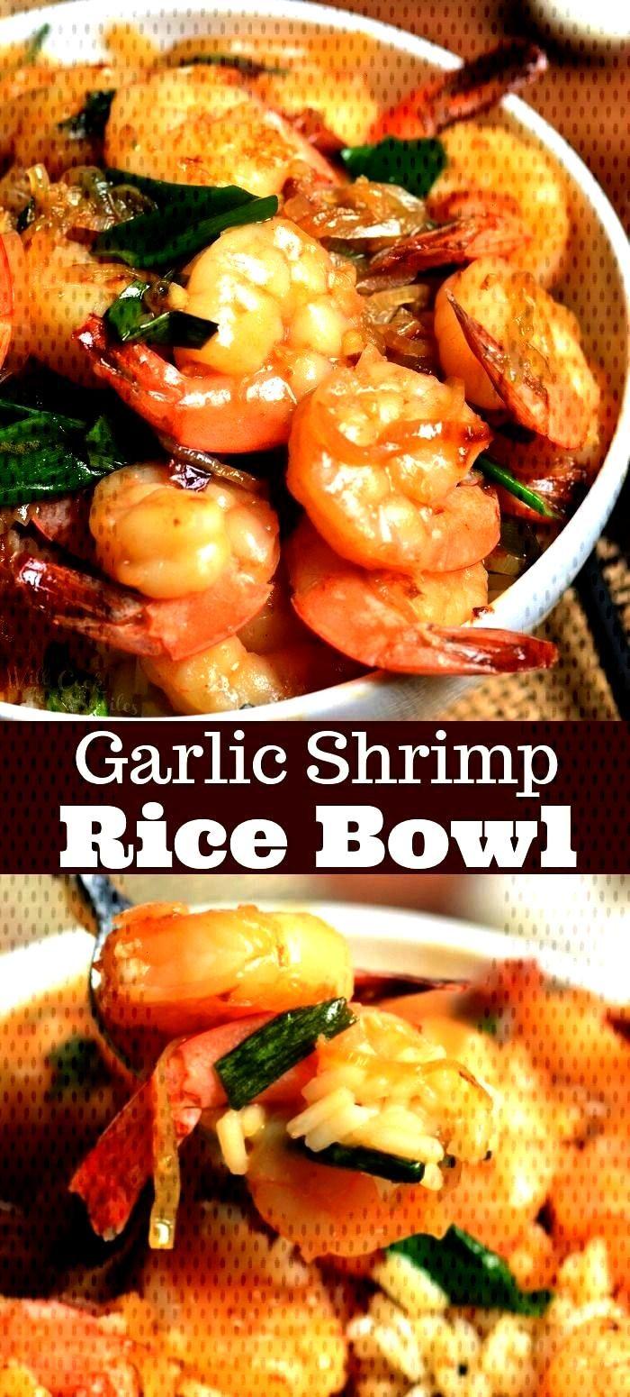 Shrimp Rice Bowl#bowlGarlic Shrimp Rice Bowl#bowl Teriyaki Shrimp Stir Fry skip takeout and make